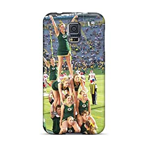 Asbarn Galaxy S5 Hybrid Tpu Case Cover Silicon Bumper Green Bay Packers Cheerleaders