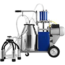 BestEquip Milking Machine 1440 RPM 10-12 Cows per Hour Electric Milking Machine with 25L 304 Stainless Steel Bucket Milk Machine for Cows