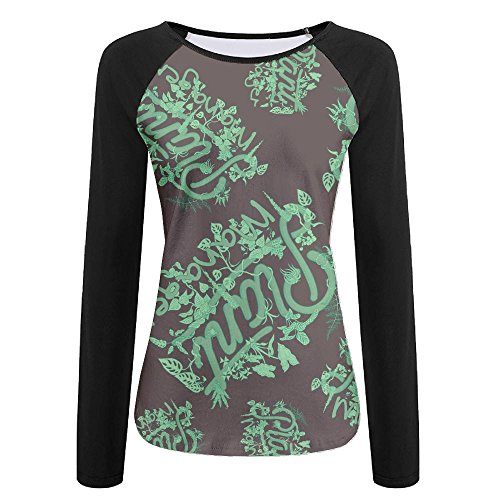 V2ws Shirt Plant Manager Womens Casual Raglan T-Shirt Round-Neck Baseball Sweatshirts