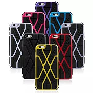 TOPQQ High Quality Fashion Silicone Mobile Phone Holster¡ª¡ªLightning Series for iPhone 6 Plus(Assorted Colors) , White
