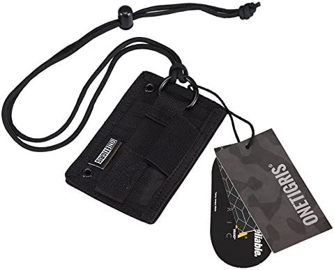 OneTigris Tactical ID Card Holder Hook /& Loop Patch Key Ring Credit Organizer