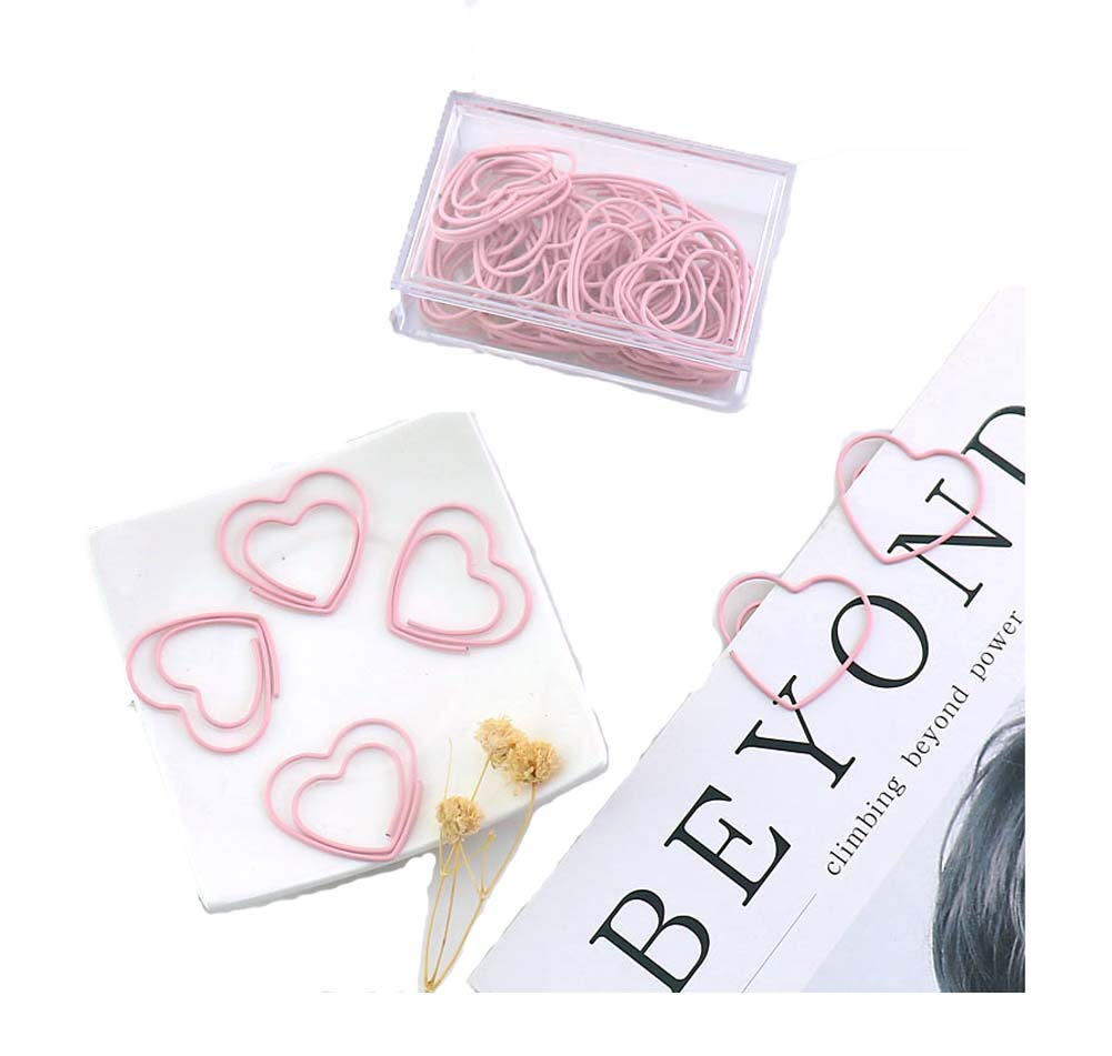 30 Pieces Design of Love's Paper Clip, Pink