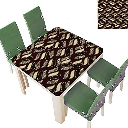 Printsonne Polyester Tablecloths African Style Cheetah Skin Texture Pattern Camouflage Design Redwood Brown Light Yellow for Indoor and Outdoor Use 50 x 50 Inch (Elastic Edge)