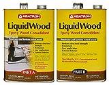 Abatron LiquidWood Epoxy Wood Consolidant, 2 Gallon Kit, Part A & B