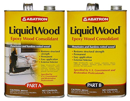Abatron LiquidWood Epoxy Wood Consolidant, 2 Gallon Kit, Part A & B by Abatron