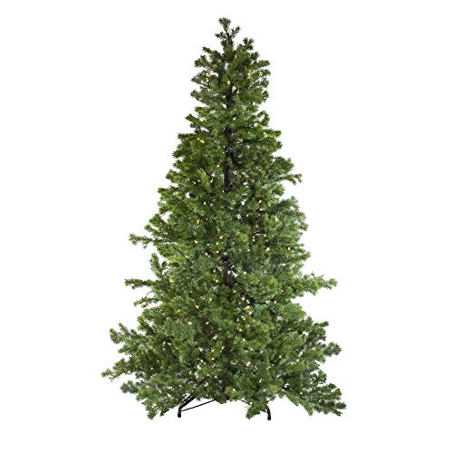 (7.5' Layered Pine Instant Power Artificial Christmas Tree - Dual Color LED Lights)