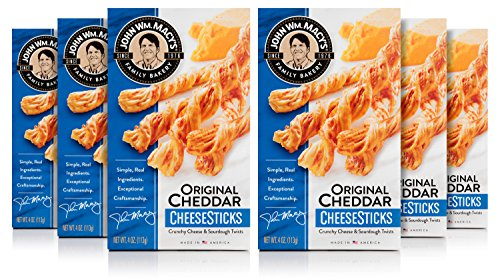 John Wm. Macy's CheeseSticks, Original Cheddar, 4 Ounce Box, Pack of ()