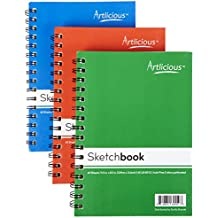 """Artlicious - 3 Sketch Pads 5.5"""" x 8.5"""" for Drawing, Coloring & Doodling (3 Sketchbooks)"""