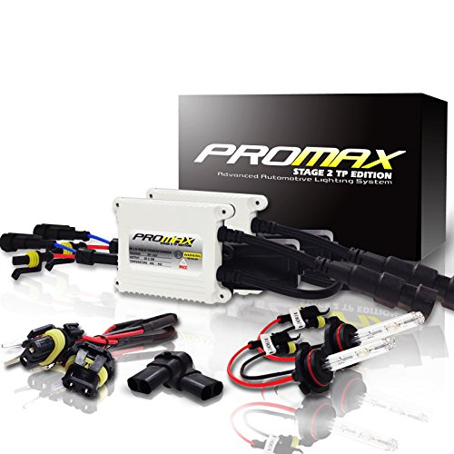 Promax Stage 2 TP Edition HID Xenon Slim Conversion Kit with Premium Slim Ballasts 6000k / 6k / Diamond White H11 ( H8 , H9 )