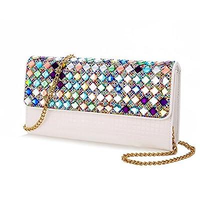 Clutch Bag-Shiningwaner Evening Bag-Envelope Bag With Rhinestones-Shoulder Chain Bag-Wedding Party Bag