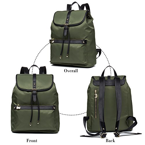 School 1 Travel Water Bags Backpack Weight BOSTANTEN Nylon Backpacks Purses Women olive Light Resistant w1xCCSZUnq