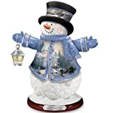 Thomas Kinkade Victorian Christmas Snowman Figurine by The Bradford Editions
