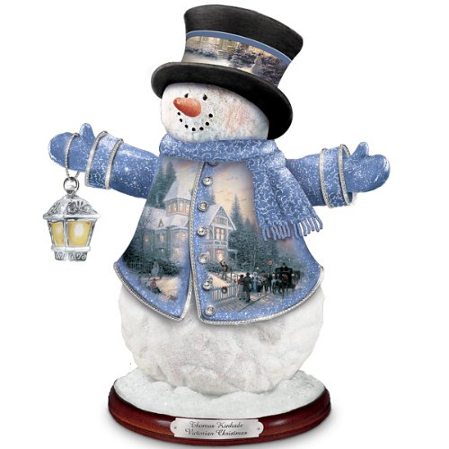 Thomas Kinkade Victorian Christmas Snowman Figurine by The Bradford Editions (Thomas Snowman Victorian Kinkade Christmas)
