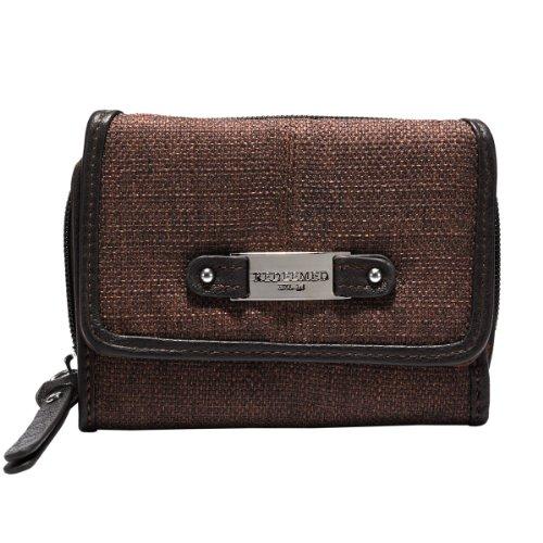 Brown Linen Wallet Redeemed Badge product image