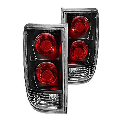 VIPMOTOZ For 1995-2005 Chevy Blazer GMC Jimmy Tail Lights - Matte Black Housing, Driver and Passenger (Gmc Jimmy Passengers Side Tail)