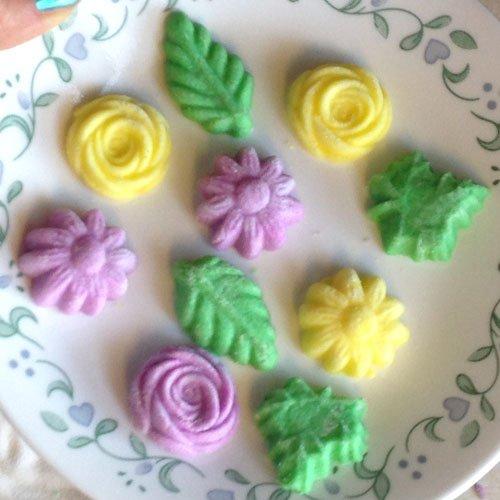 Flower/Leaf Rubber Molds, 4/pk