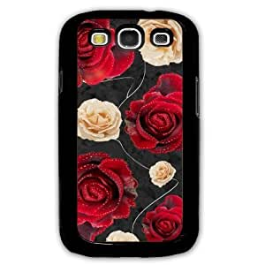 Cover for Samsung Galaxy S3 Red & white roses floral flower pattern phone case