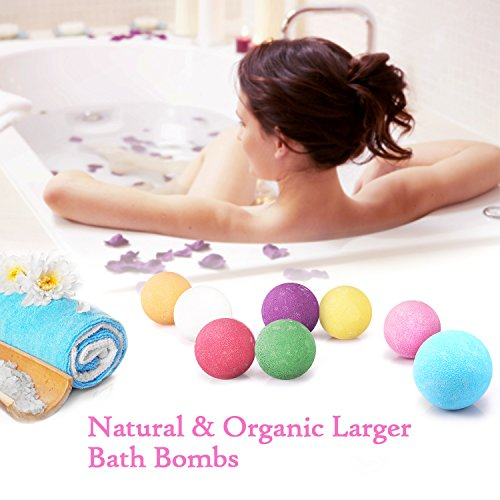 BESTOPE Bath Bombs Gift Set, 8 Vegan Natural Essential Oil & Lush Fizzy and Spa Bubble Bath Moisturizes Dry Skin, Luxury Gift for Kids, Teen Girls, Women
