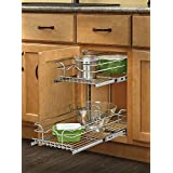 Rev-A-Shelf 5WB2-0918-CR 9-Inch Two-Tier Wire Baskets (18-Inch Depth)