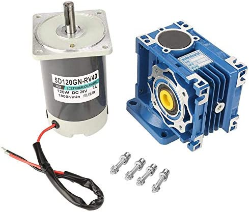 SSY-YU ウォームギヤモーター、窓ドアオープナーウインチの機会のためのDC24V 7A 120W 1800RPMの低損失実用的変動金利ウォームギヤモーターをセルフロック(20K) 電動工具用