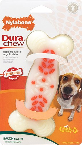 Dura Chew Bacon (Nylabone Dura Chew Wolf Bacon Flavored Bone Dog Chew)