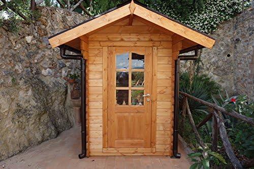 Casita de madera de jardín dekalux 1, 5 x 2, 5: Amazon.es: Jardín
