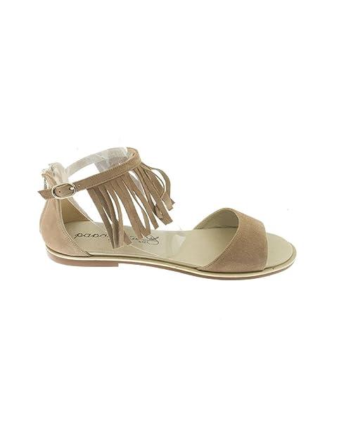 Sandalia Eli Ante Flecos Camel  Amazon.es  Zapatos y complementos bb9c4ee85817