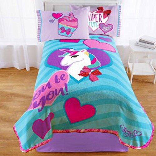 Nickelodeon Jojo Siwa Girls Twin Bedding Plush Blanket