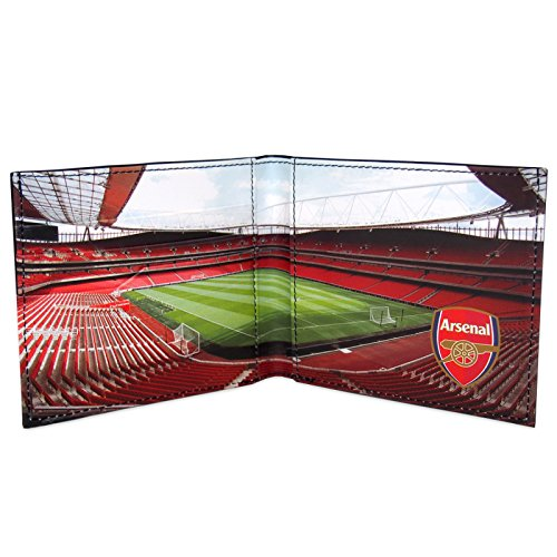 Arsenal FC Official Soccer Gift Embossed Crest Stadium Wallet Black