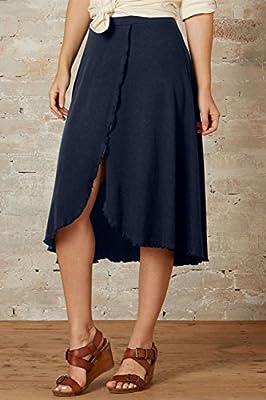 Fair Indigo Fair Trade Organic Faux Wrap Skirt