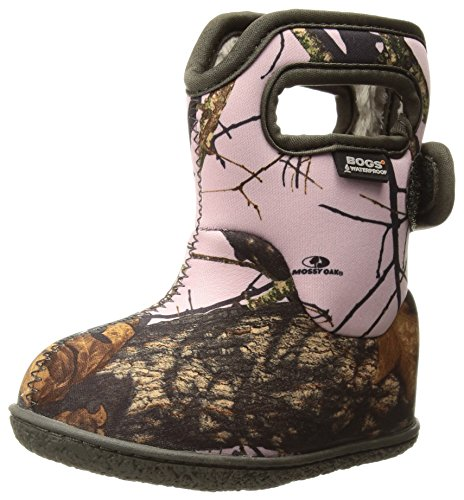 Bogs Baby Bogs Waterproof Insulated Toddler/Kids Rain Boots for Boys and Girls, Camo Print/Pink Mossy Oak Country, 5 M US Toddler