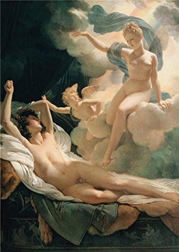 Morpheus Costumes (High Quality Polyster Canvas ,the High Definition Art Decorative Prints On Canvas Of Oil Painting 'Morpheus And Iris,1811 By Pierre-Narcisse Guerin', 18x25 Inch / 46x64 Cm Is Best For Home Office Decoration And Home Decor And Gifts)