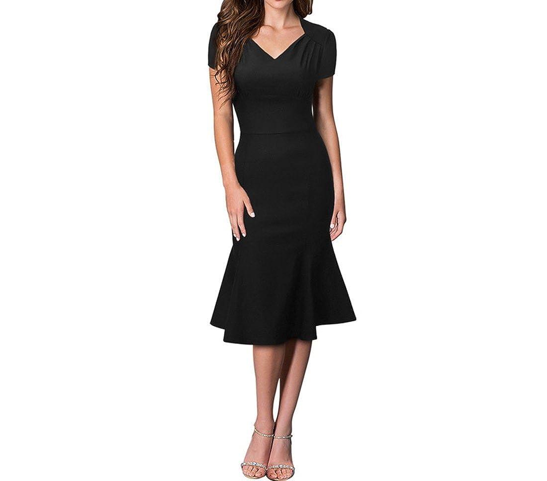 zeeber Damen Cocktail Kleid