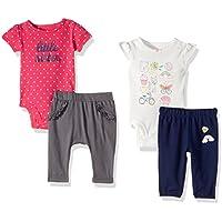 Girls' 4-Piece Bodysuit and Pant Set