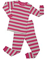 "Leveret ""Baby Girl"" Striped 2 Piece Pajama Set 100% Cotton (6-18 Months)"