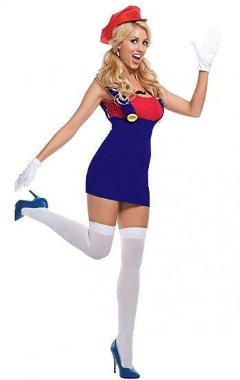 Shoerama Damen Kostüm Sexy Klempner 2 Mario Größe Sm Amazonde