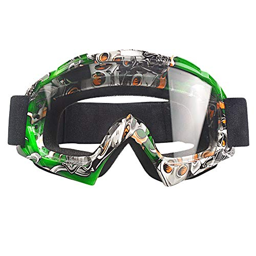 MOOREAXE Motorcycle Goggles Sunglasses,Anti Winnd Dirt Bike Riding Goggles Transparent Skiing Skating Windproof Eyewear Protective Gear,for Adult Women Men Youth