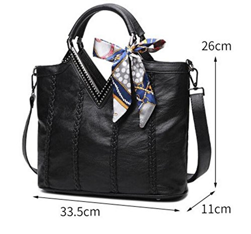 sac cuir à sac capacité Mesdames à à grande bandoulière en main sac bandoulière Zxtqwtz78