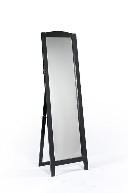 Amazon.com: King\'s Brand Black Finish Wood Frame Floor Standing ...