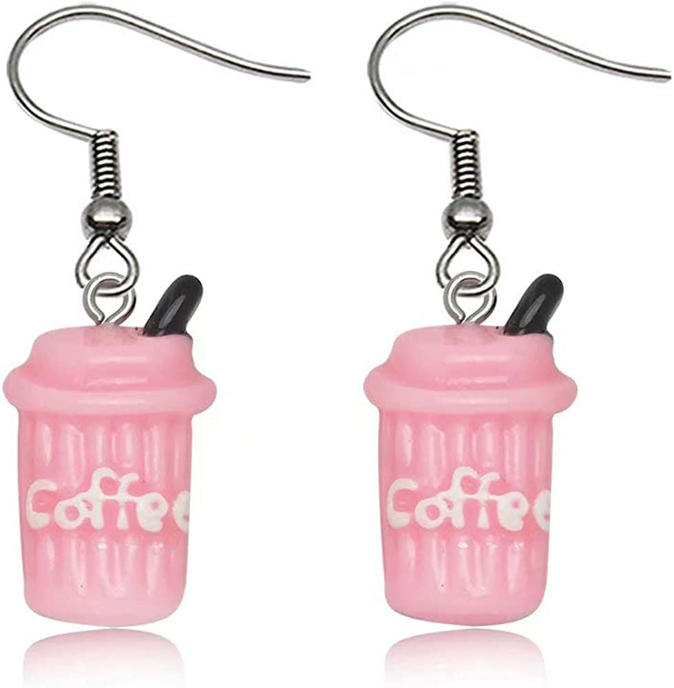 Creative Coffee Cup Drop Earrings Dangle Earrings for Women Jewelry Personality Gifts