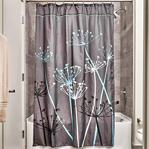 (InterDesign Thistle Shower Curtain, Stall - Gray and Blue)