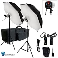 Limo2 X 40 Umbrella Softbox Reflector White Diffuser With 300W Flash Strobe Photo Monospeedlite Lighting Kit
