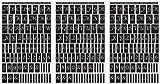 Rub 'N' Etch Designer Stencils 5x8 3/Pkg-Script