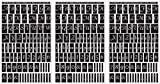 Rub 'N' Etch Designer Stencils 5x8 3/Pkg-Script Letters & Numbers