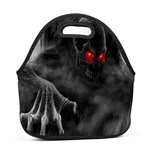 Creepy Skeleton Ghost Lunch Bag Portable Bento Pouch Lunchbox Baby Bag Multifunction Satchel Tote for Outdoor Tour School Office Picnic