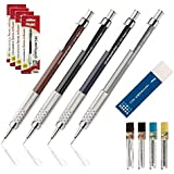 Conjunto Lapiseiras Pentel GraphGear 500 0,3mm 0,5mm 0,7mm 0,9mm em Blister