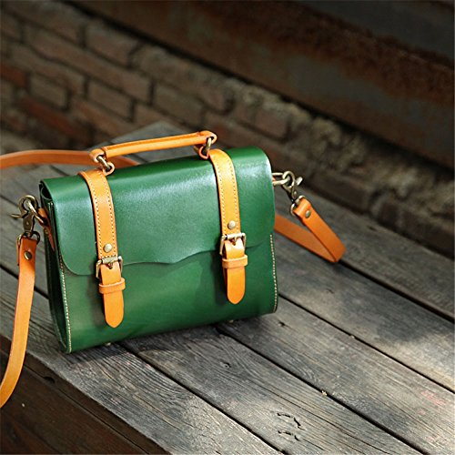 color Red Messenger Cow Large Bag Use Asdflina Everyday Green Suitable Retro For Female Capacity Leather Tote Cambridge 1w6gZfxC