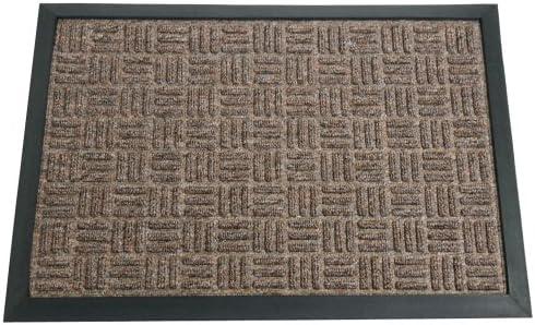 Rubber-Cal 03-195-ZWBR Wellington Rubber Backed Entrance Carpet Door Mat, 2 x 3 , Brown