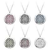 """JOVIVI Aromatherapy Essential Oil Diffuser Necklace, Stainless Steel Locket Pendant with 24"""" Beads Chain and 6 Color Felt Pads"""