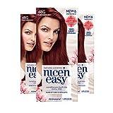 dark red hair highlights - Clairol Nice 'n Easy Permanent Hair Color, 4BG Natural Dark Burgundy, 3 Count, Reds